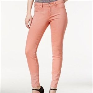 Jessica Simpson Pink Rolled Crop Skinny Jeans